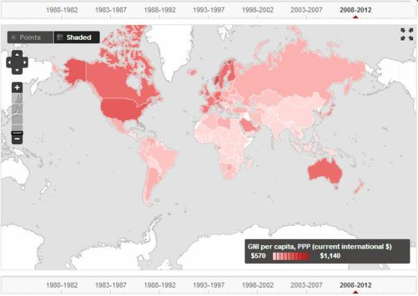 GNI per capita, PPP (current international $), World Bank